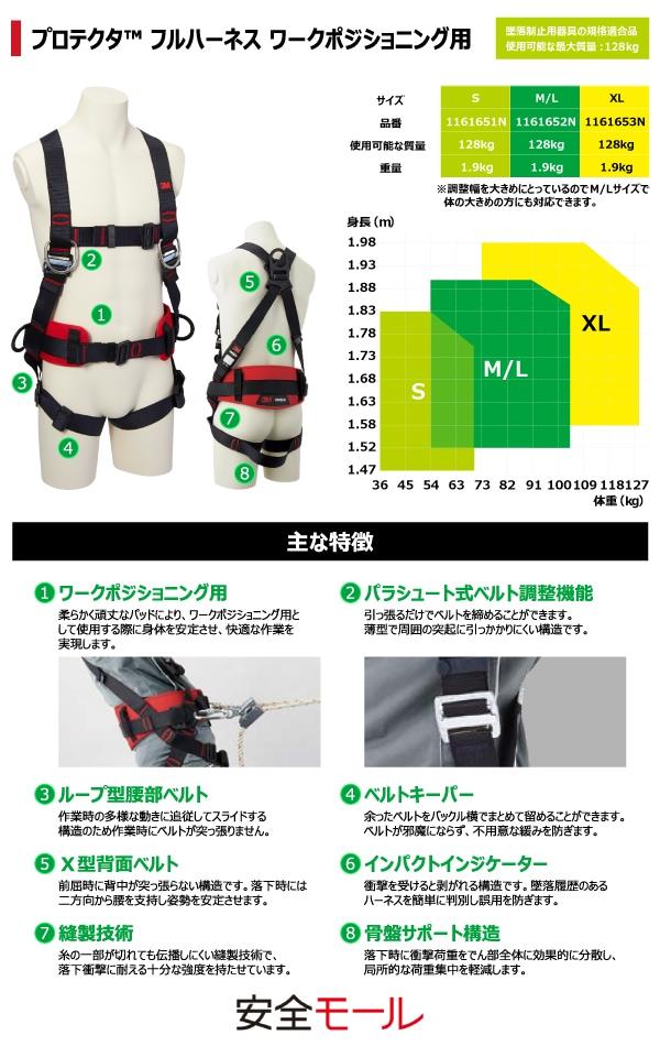 1商品画像【3M/スリーエム】フルハーネス型安全帯(プロテクタ ワークポジショニング用)