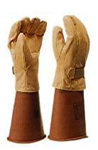 【ヨツギ】 耐電手袋用保護革手袋(マジックテープ付)