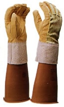 【ヨツギ】 耐電手袋用保護革手袋(甲部 メッシュ付)