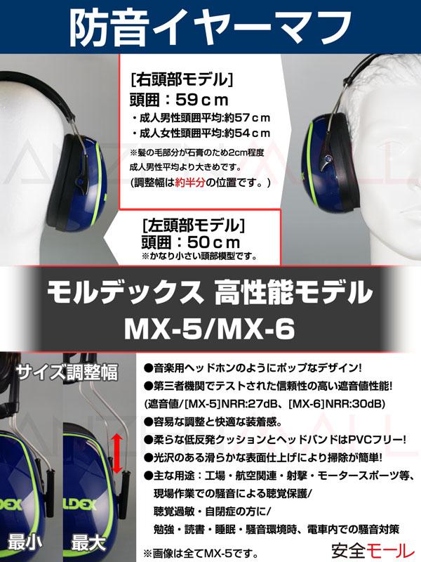 1商品画像イヤーマフ防音MX-5モルデックス6120はワイヤー部分を調整して快適フィット