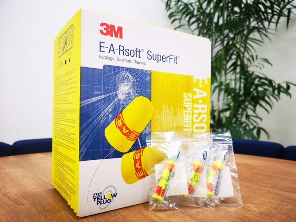 3M(スリーエム) 耳栓 E-A-Rsoft スーパーフィット 312-1256 ひもなし(200組)