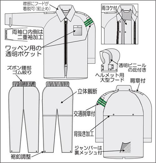 【富士ビニール工業】 レインストーリー536 4L(上下セット)【業務用・作業用・レインコート 】