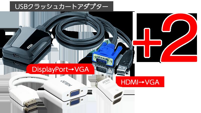 ラップトップ USB KVMコンソール クラッシュカートアダプター