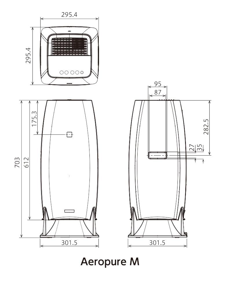 エアロピュアM寸法