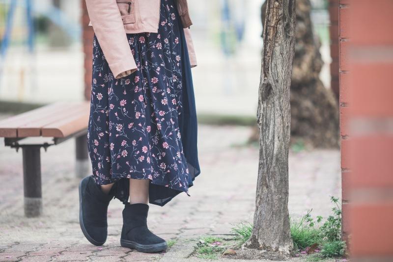 デザインと色で遊ぶ春のワンピーススタイル 古着コーデ2