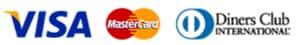 VISA/Master/Dibears一括払いのみご利用可能です。