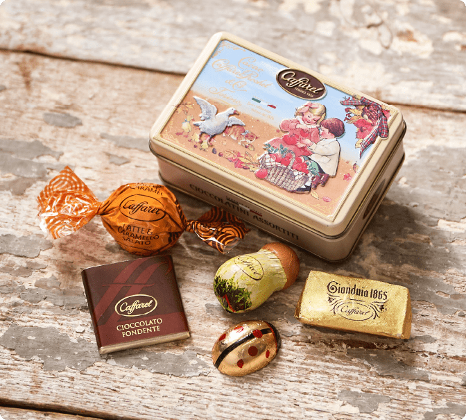 カファレルの可愛いチョコレート缶