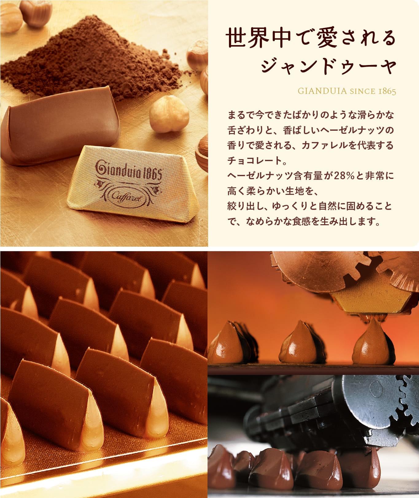 カファレルの高級チョコレート ジャンドゥーヤ