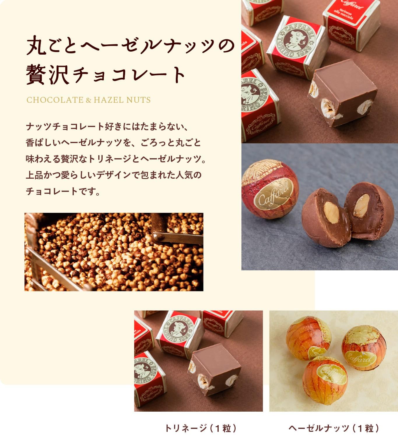 ナッツの高級チョコレートはカファレル