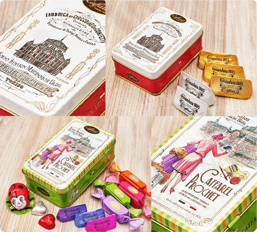 カファレル東京駅限定チョコレート缶セット