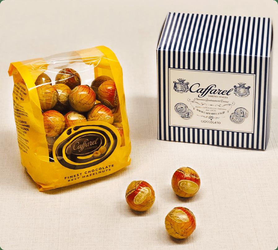 ヘーゼツナッツチョコレートのパック