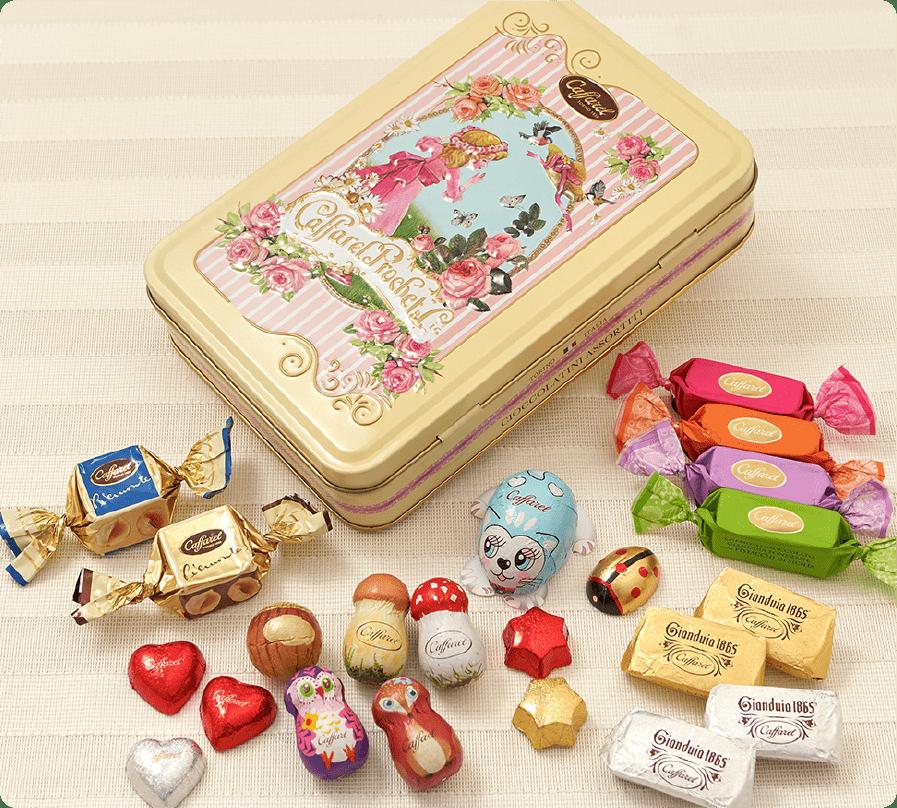 可愛いチョコレート缶