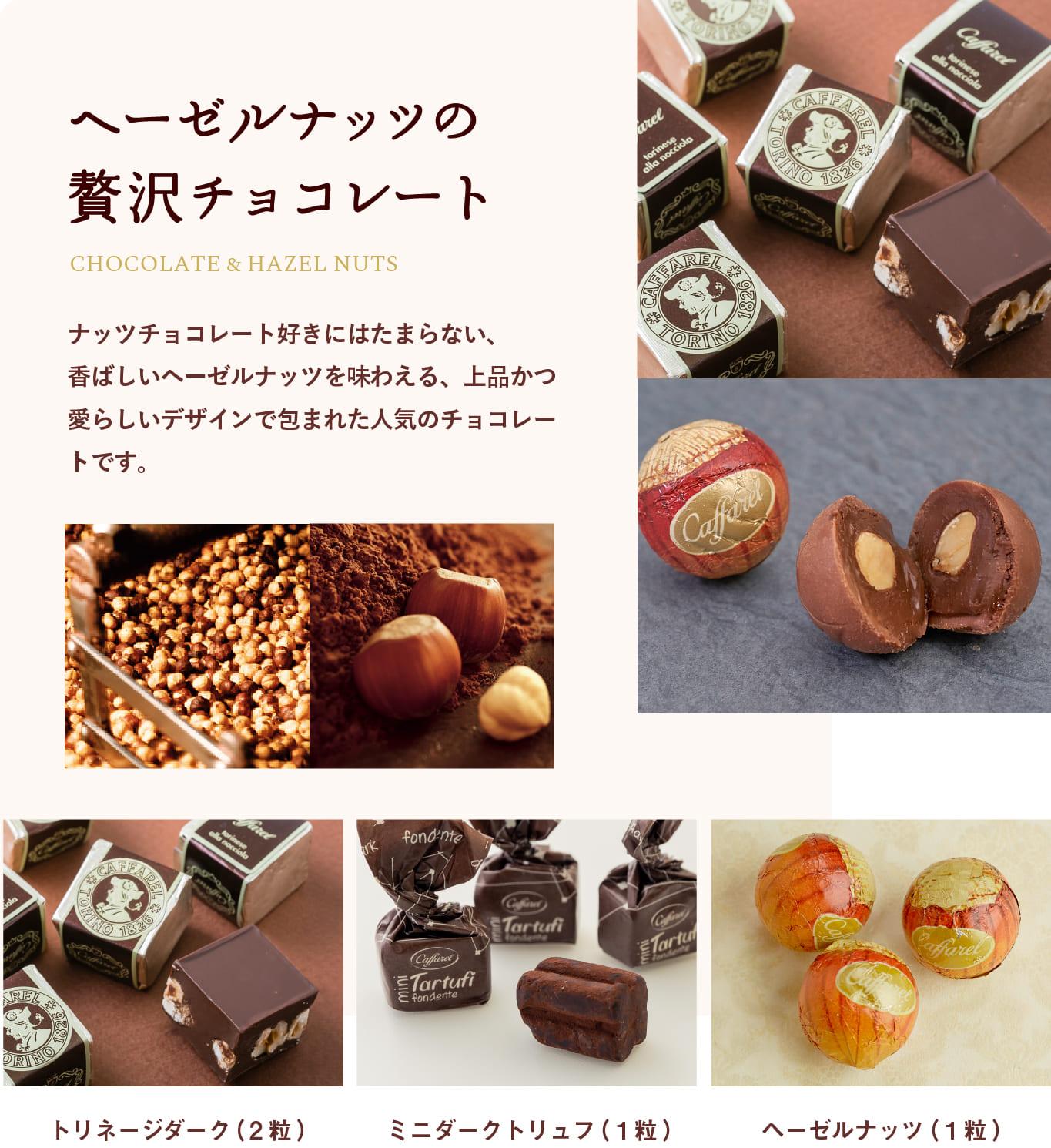 ヘーゼルナッツの贅沢チョコレート