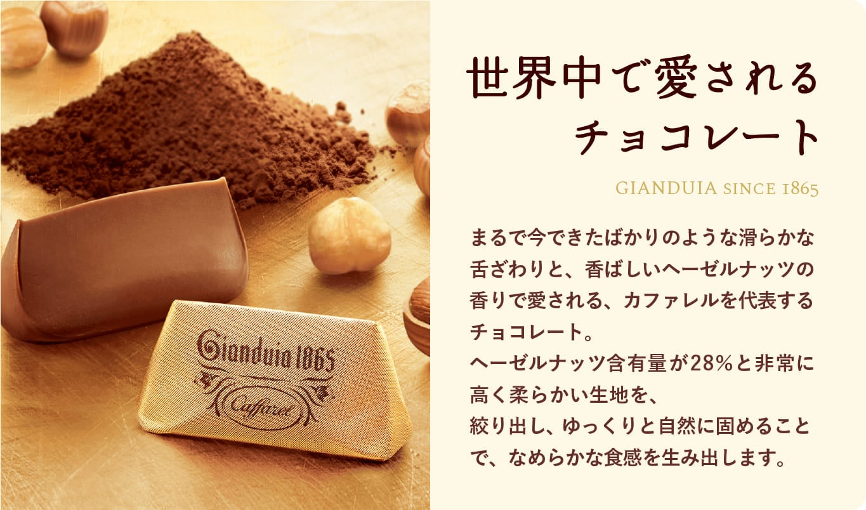 高級チョコレートのジャンドゥーヤ