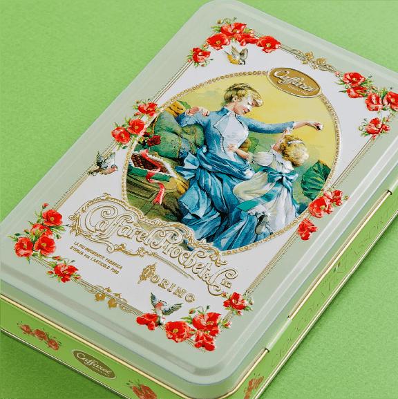 可愛いチョコレートデザイン缶はカファレルcaffarel