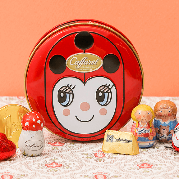 designed can of caffarel カファレル人気のデザイン缶