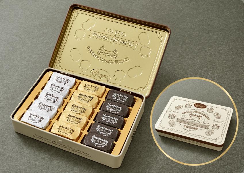美しいデザイン缶チョコレートギフト