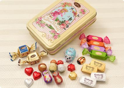 人気の可愛いチョコレートデザイン缶