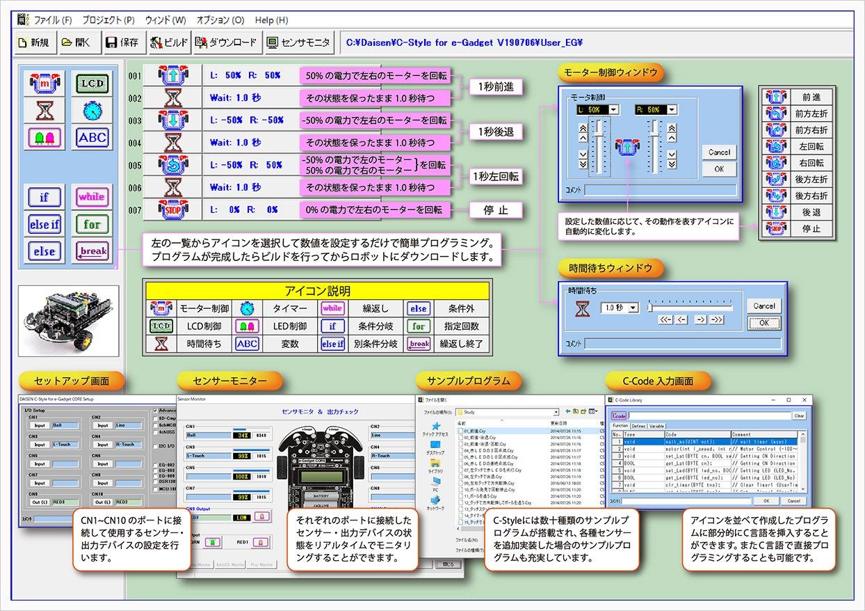 プログラミングソフト「C-Style」