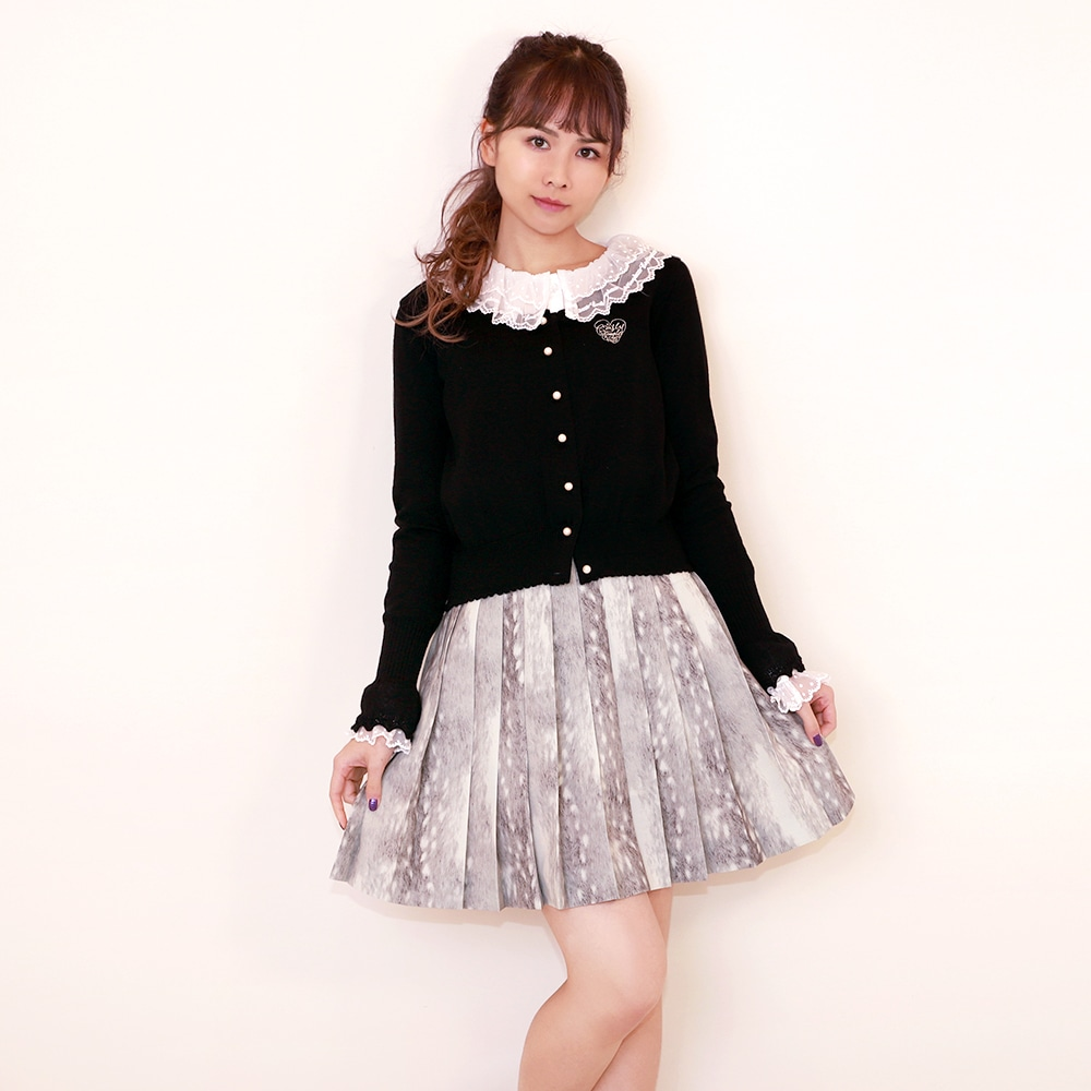 FawnFurプリーツスカート
