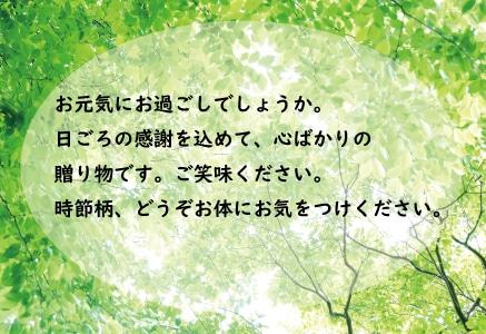 メッセージカード緑