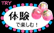 """""""体験""""で楽しむ!"""