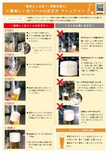 よくある悪いビールの注ぎ方