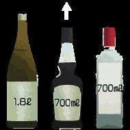 ワンプッシュ定量ディスペンサー 一押くんプラス 瓶用サポーター付 対応図