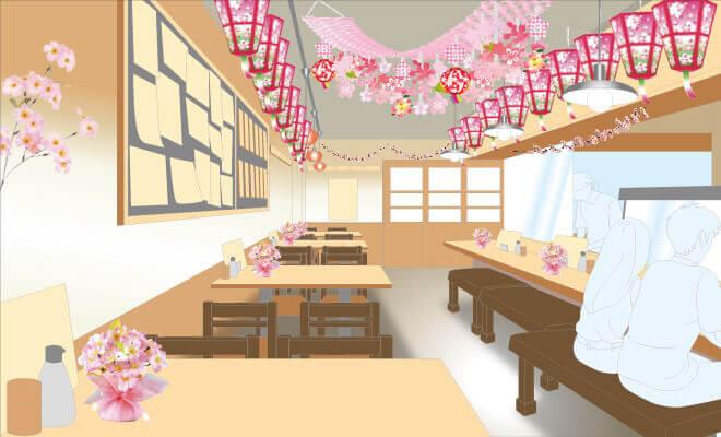 桜・お花見 店舗装飾イメージ