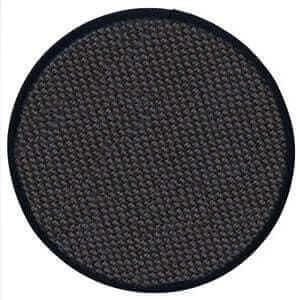 メッシュアイスペールマット 丸型 ブラック ×6枚
