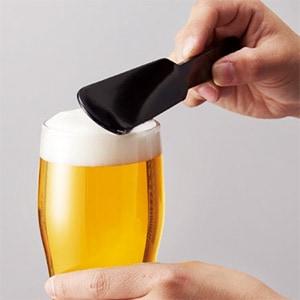 ビール泡きり
