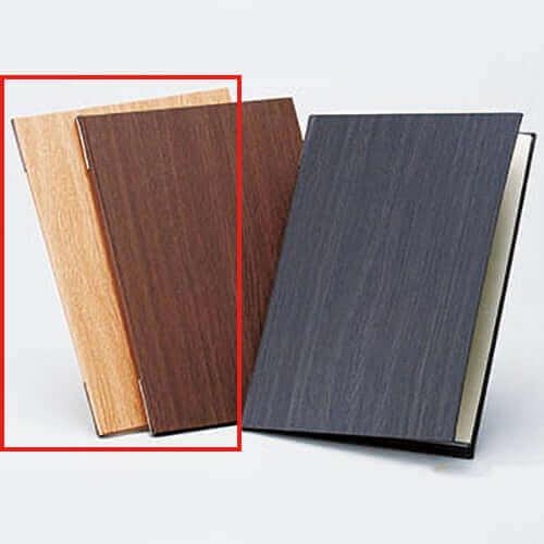 木目柄メニューブック A4 ナチュラル ×1冊