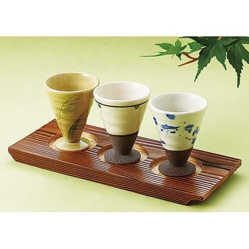 利き酒カップ飲みくらべ3種組(トレイ別売) ×2セット