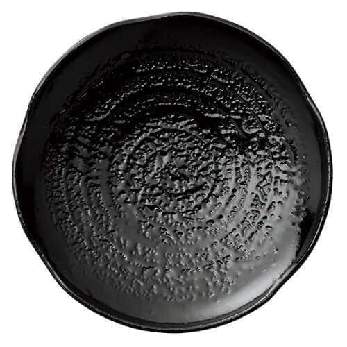 【割れにくいお皿】和皿 大 漆黒 ×5枚