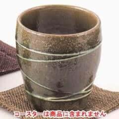 ろくよん焼酎カップ 緑釉一珍 ×5コ