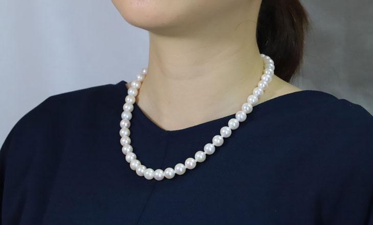 国産大珠あこや真珠ネックレス