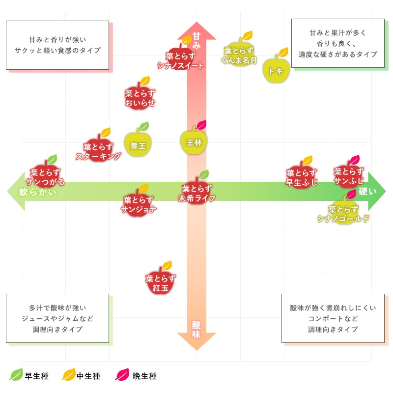 種類別チャート画像 早生種 中生種 晩生種