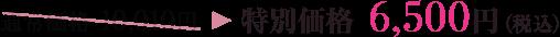 通常価格 10,010円→特別価格 6,500円(税込)