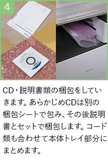 CD・説明書類も梱包