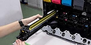 コピー機の整備工程 ドラムの確認