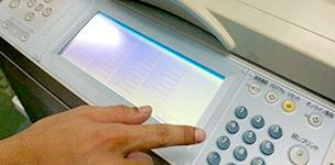 印刷機の整備工程 状態の確認