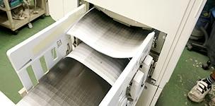 印刷機の整備工程 テスト印刷