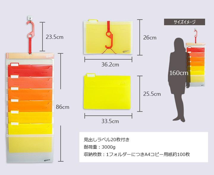 エセルテ ソーテッドの活用イメージ 色ごとに書類分けができる