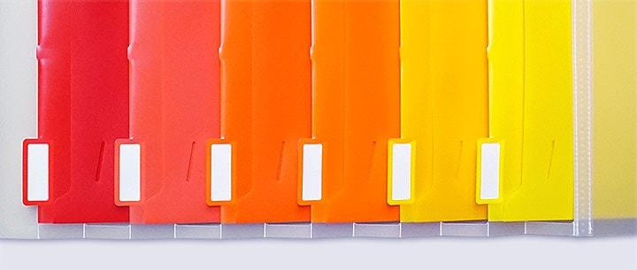 グラデーションがきれいな6色のファイル