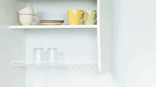 安全設計の食器棚コーナー部イメージ