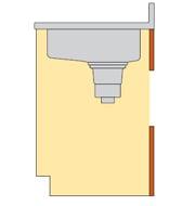 クリナップ 木キャビキッチン 点検口付き流し台 イメージ