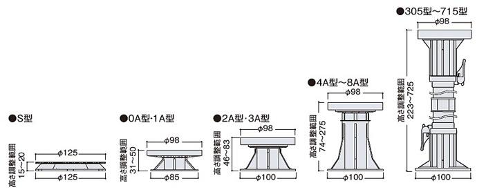 FUKUVI マルチポスト 製品図