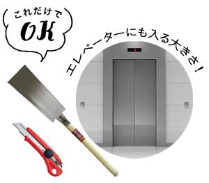 ノコギリ・カッター・エレベーター