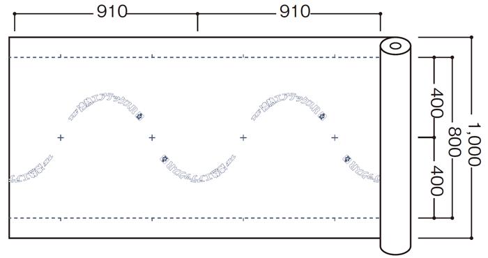 フクビ化学工業(株) 遮熱エアテックスR SHATR01 寸法図
