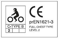 岐阜プラスチック TECCELL バイク用胸部ヨーロッパCE規格Level2
